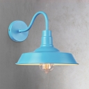 Gooseneck Wall Light Sconce Industrial Colorful Iron 1 Head Wall Lighting for Children Room