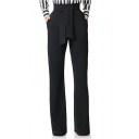 Women's New Arrival High-Rise Tied Waist Basic Solid Wide Legs Pants