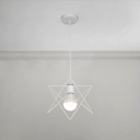 1 Light Star Suspended Lamp Industrial Metal Decorative Pendant Light in White
