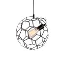 Industrial Style Geometric Hanging Pendant Light Metal Cage 1 Head Orb Pendant Lighting