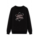 THEORETICAL DUN IS REAL Printed Long Sleeve Round Neck Relaxed Sweatshirt