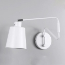 Industrial Modern Cone Wall Light Metal Single Bulb Decorative Wall Mount Light in White