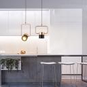Rose Gold Cylinder LED Pendant Lights Designers Lighting Metal 1 Light Hanging Lighting