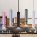Tube Mini LED Pendant Light Nordic Style Aluminum 1-LED Track Pendant Light for Bar Counter Kitchen