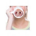 Hot Sale Funny White Letter Pig Nose Pattern Ceramic Mug 8.5*12.5CM