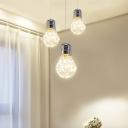 Edison Bulb LED Multi Light Pendant in Chrome Finish for Restaurant Bar Counter