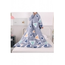 Gray Geometric Printed Warm Lazy Sofa Wearable Blanket Sleeves Quilt 1.8*2M