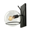 12'' H Clear Glass Matte Black Single Light LED Wall Sconce