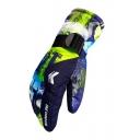 Colorblock Warm Up Unisex Outdoor Windproof Closing Ski Gloves