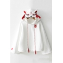 Sweet Long Sleeve Fox Design Hooded Tassel Embellished Casual Fashion Hoodie