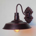 Antique Copper Warehouse Wall Light Vintage Style 1 Light Wall Lamp for Corridor Bedroom