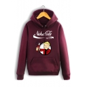 Cartoon Character Letter Pattern Long Sleeve Cotton Unisex Hoodie