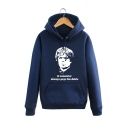 Classic Long Sleeve Letter Character Printed Hoodie