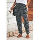 Popular Camouflage Printed Drawstring Waist Lounge Pants