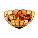Single Head Fruit Theme Art Glass&Shell Shade Wall Washer in Tiffany Style 6