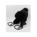 Winter's Warm Windproof Weather Proof Pompom Embellished Earflap Outdoor Beanie Hat