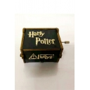 New Arrival Classic Harry Potter Carved Wooden Hand Cranked Black Music Box 6.5*5.2*4.2CM