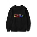Fashion Colorful Letter ASTROWORLD WE PUT YOU IN THE MIDDLE OF FUN Print Pullover Sweatshirt