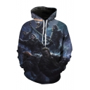 3D Hot Sale Long Sleeve Character Printed Drawstring Hoodie for Couple