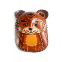 Cute Tiger Shape Animal Pattern Zippered Coin Purse for Girls