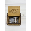 Unique Gift Yellow Hand Cranked Letter GAME OF THRONES Carved Wooden Music Box