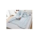 Plush Sky Blue Sofa Family Office Blanket Wearable Sleeves Quilt 1.5*2.0M