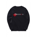 The Originals Series Printed Long Sleeve Round Neck Loose Sweatshirt