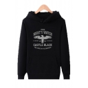 Long Sleeve Letter THE NIGHT'S WATCH Printed Loose Leisure Hoodie for Men
