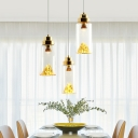 Mountain View Pendant Light in Post Modern Style Silver/Gold 1 Ring Hanging Fixture for Restaurant
