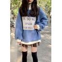 Funny Letter DO NOT DRESS FOR BOYS Long Sleeve High Neck Loose Letter Printed Tunics Fleece Sweatshirt