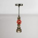 Weathered Steel Pipe Drop Light Retro Style 1 Light Hanging Lamp for Clothes Store Restaurant
