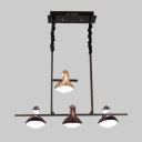 4 Light Swan Island Pendant Light Post Modern Plastic and Acrylic Multi Chandelier for Bar Counter Kitchen