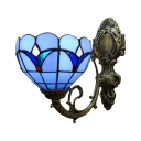 Vintage Style Blue Indoor Wall Sconce with 6