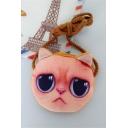 Cute Cartoon Cat Printed Leisure Zip Closure Coin Pouch
