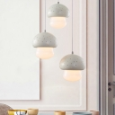 Mushroom Mini LED Pendant Lights Nordic Style Acrylic Single Head Hanging Ceiling Lights Cold White Light