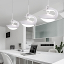 Swan LED Pendant Lighting Modern Style Third Gear Acrylic 1 Light Hanging Lighting in White