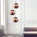 Purple Gold LED Pendant Lighting Designers Style Metal 1 Light Hanging Ceiling Light for Dining Room Cafe