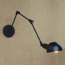 Antique Pewter 1 Light Hallway Swing Arm Task Lighting LED Wall Light