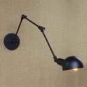 Antique Pewter 1 Light Hallway Swing Arm Task Lighting LED Wall Light