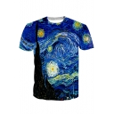 Original Painting Pattern Short Sleeve Crew Neck T-Shirt