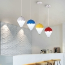 Hot Air Balloons Pendant Lights Nordic Style Plastic Single Light Mini LED Hanging Fixture