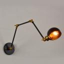 Single Bulb Adjustable Arm Wall Light Industrial Modern Metal Sconce Light in Brass Finish