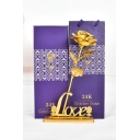 Valentines Day Birthday Gift Foil Artificial Rose Best Gift with Box