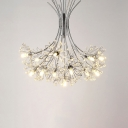 Best LED Light for Coffee Shop Clothes Store Dining Room Crystal Chandelier 13/19 Light Chrome Blossom Chandelier