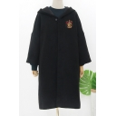 Fashion Harry Potter University Badge Chest Long Sleeve Hooded Overcoat