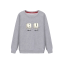 Round Neck Long Sleeve Cartoon Printed Loose Sweatshirt