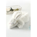Cartoon Rabbit Embellished Faux Fur Scarf Neck Warmer Wraps