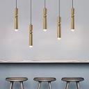 Fulcrum LED Track Lights Post Modern Metal Single Head Pendant Lighting in Antique Brass/Nickel