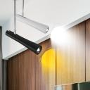 Extendable Tube LED Track Light Modern Aluminum 1 Light Spotlight in Black/White for Clothes Stores Restaurant