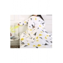 White Lazy Winter Geometric Printed Blanket Sofa Quilt with Sleeves 150*200CM
